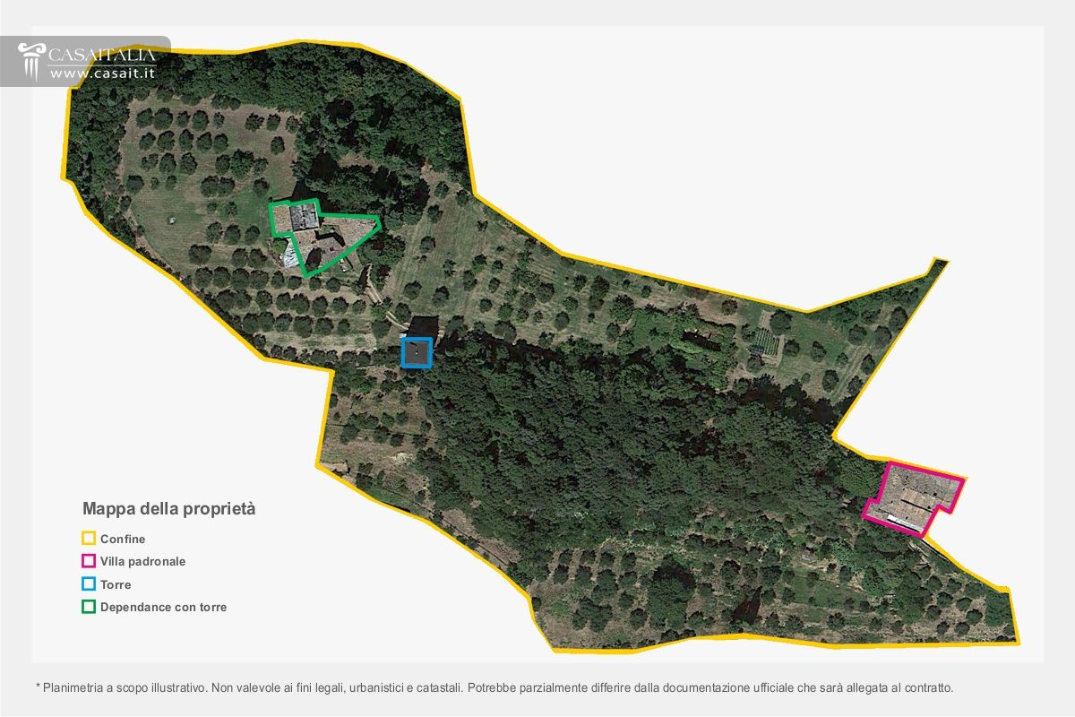 Toscana antico palazzo storico con giardino in vendita a for Planimetrie della cabina del lago con soppalco
