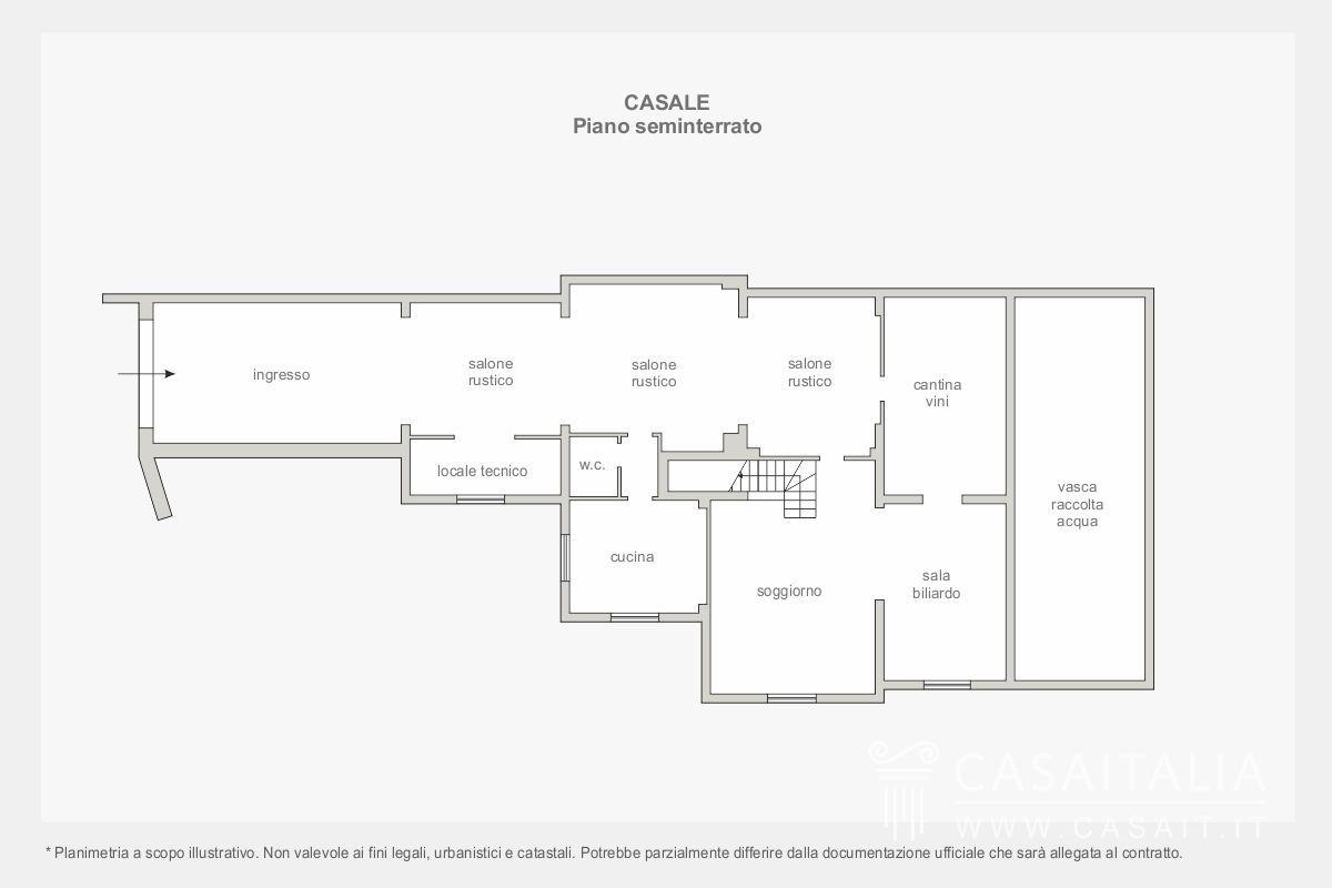 Vendita casale pietra ristrutturato umbria toscana for Piano seminterrato