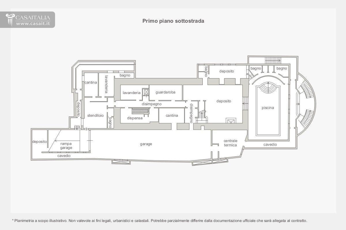 Villa di lusso in vendita a sasso marconi bologna for Planimetrie a un piano aperto