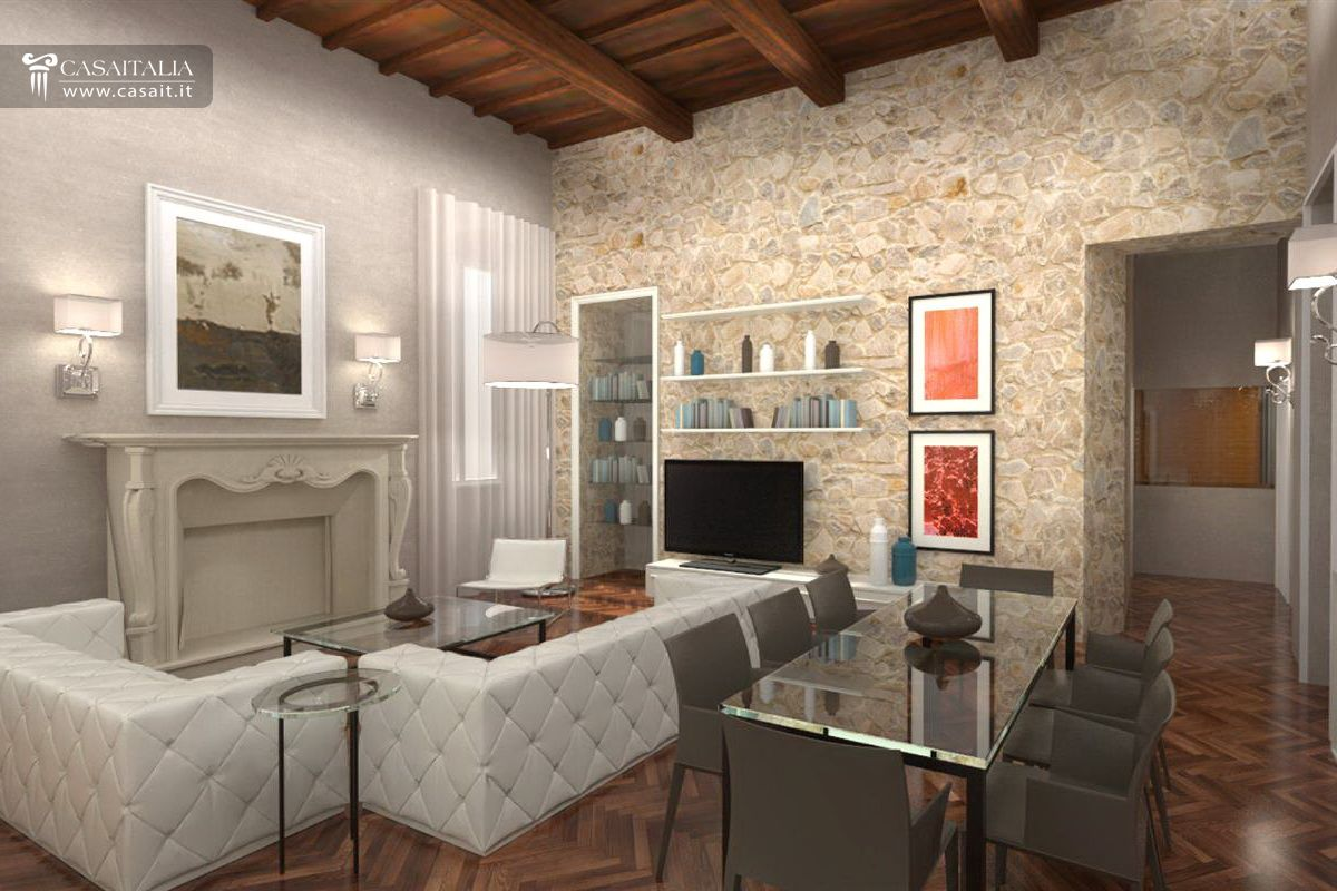 Appartamento con balcone in vendita nel centro di spoleto for Interni appartamenti di lusso