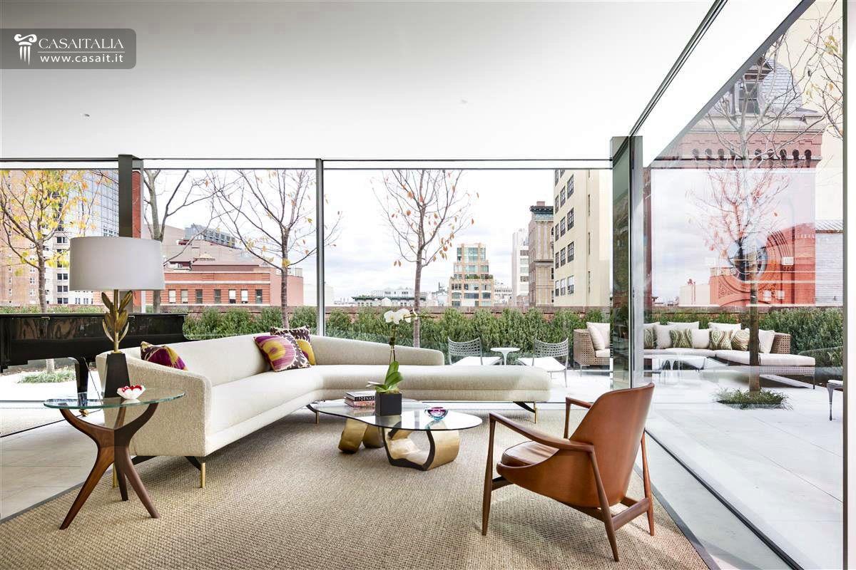 Attico di lusso con terrazzo e piscina in vendita a tribeca for Appartamenti di lusso