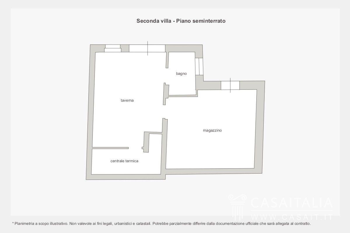 Villa con darsena sul lago di como for Piano seminterrato