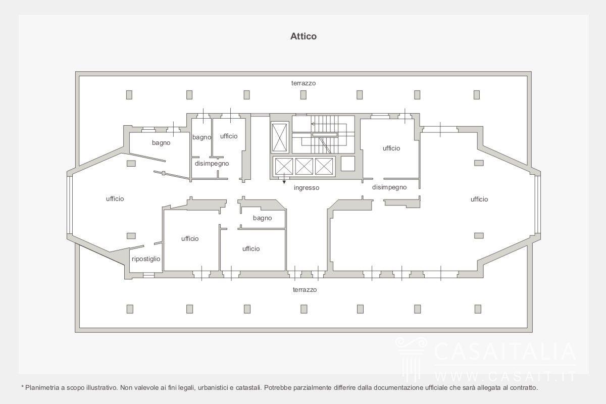 Attico di lusso in vendita a padova for Enormi planimetrie