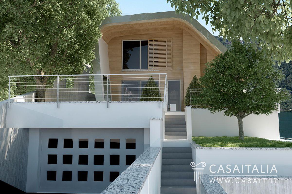 Villa di nuova costruzione con vista lago - Ingresso garage ...