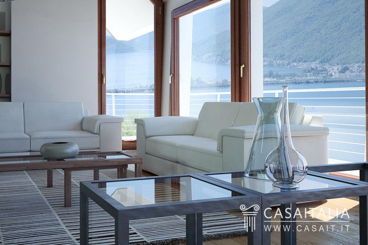 Villa di nuova costruzione con vista lago for Salotto lago