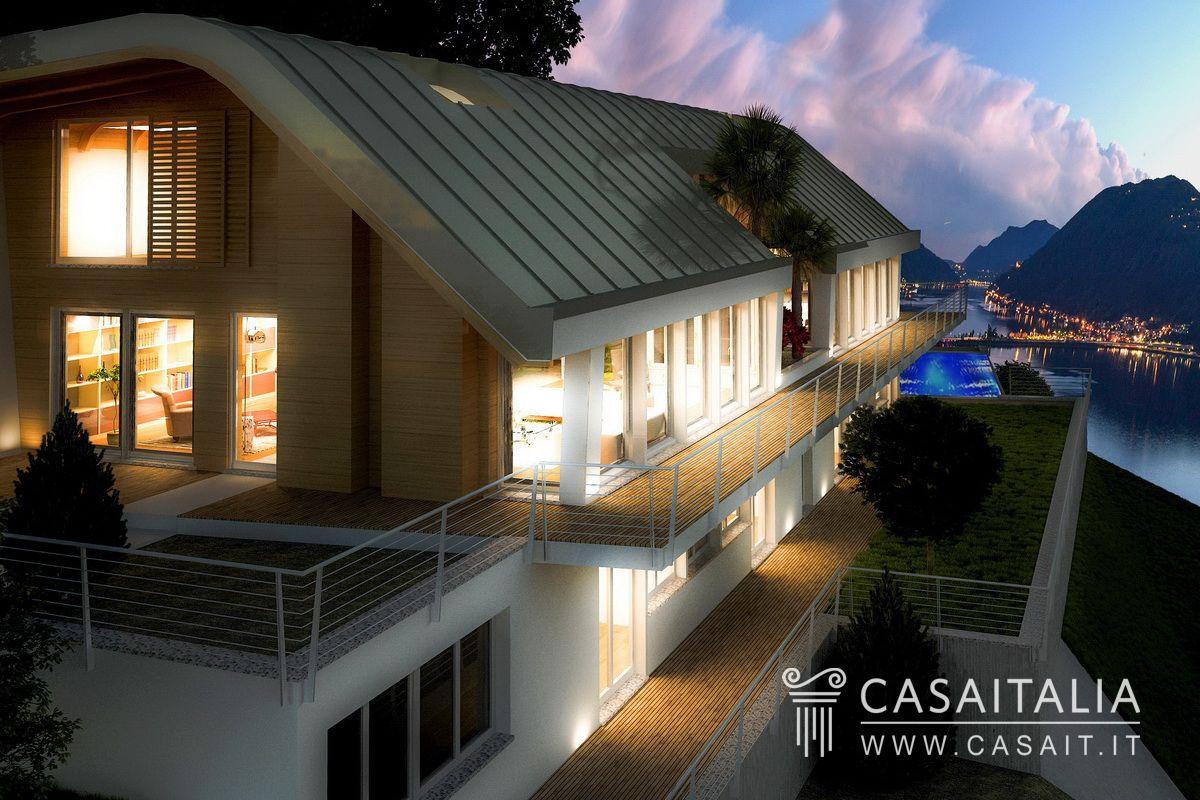 Villa di nuova costruzione con vista lago for Nuove planimetrie di costruzione