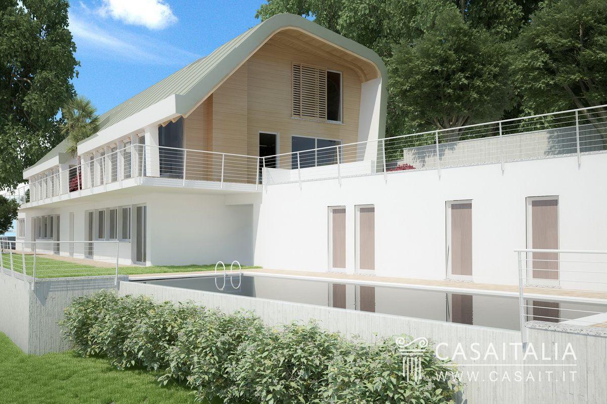 Villa di nuova costruzione con vista lago - Progetto villa con piscina ...