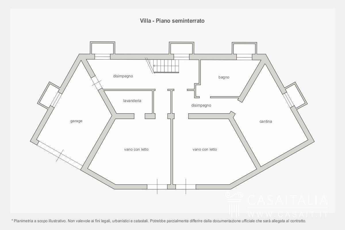 Casale con piscina in vendita a todi for Piano seminterrato