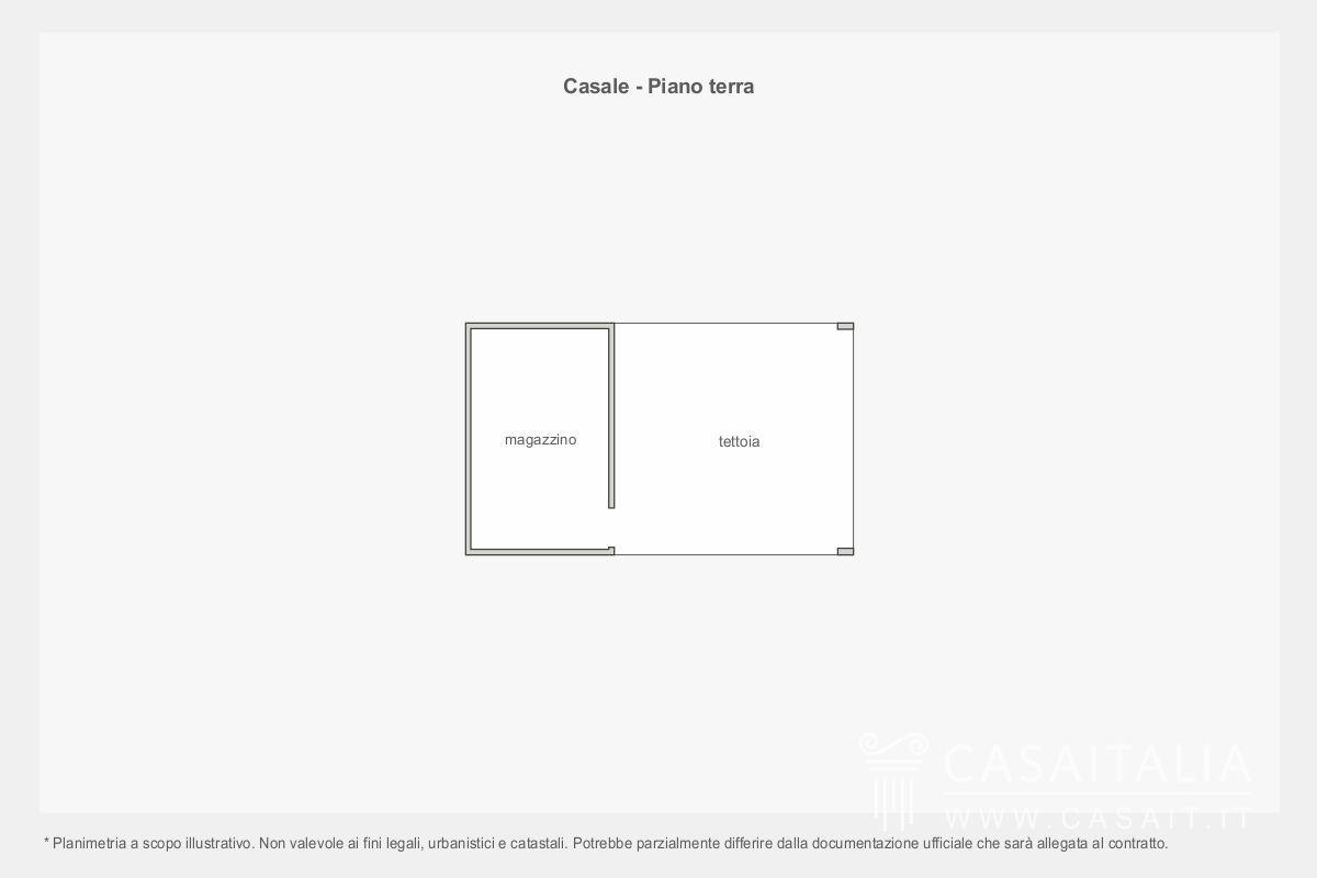 Casale con piscina e uliveto in vendita a giano dell 39 umbria for Piano del magazzino
