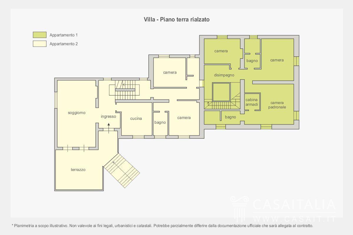 Villa con parco in vendita a perugia - Casa piano rialzato ...