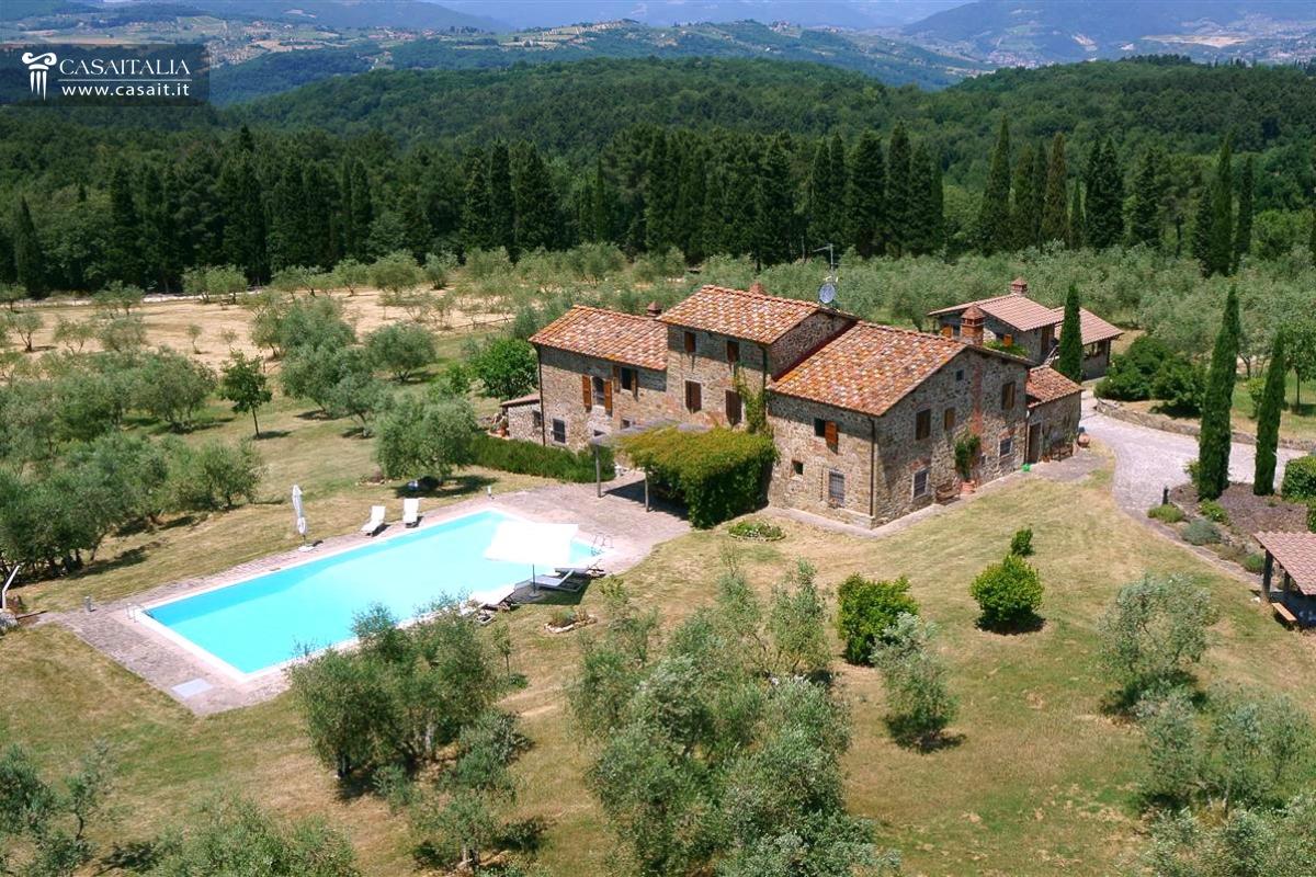 Toscana vendita casale con vigneto e uliveto for Case in vendita provincia firenze