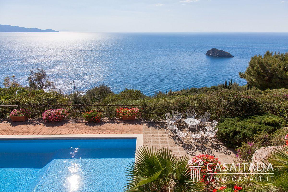 Villa con piscina e dependance in vendita all 39 argentario - Foto ville con piscina ...