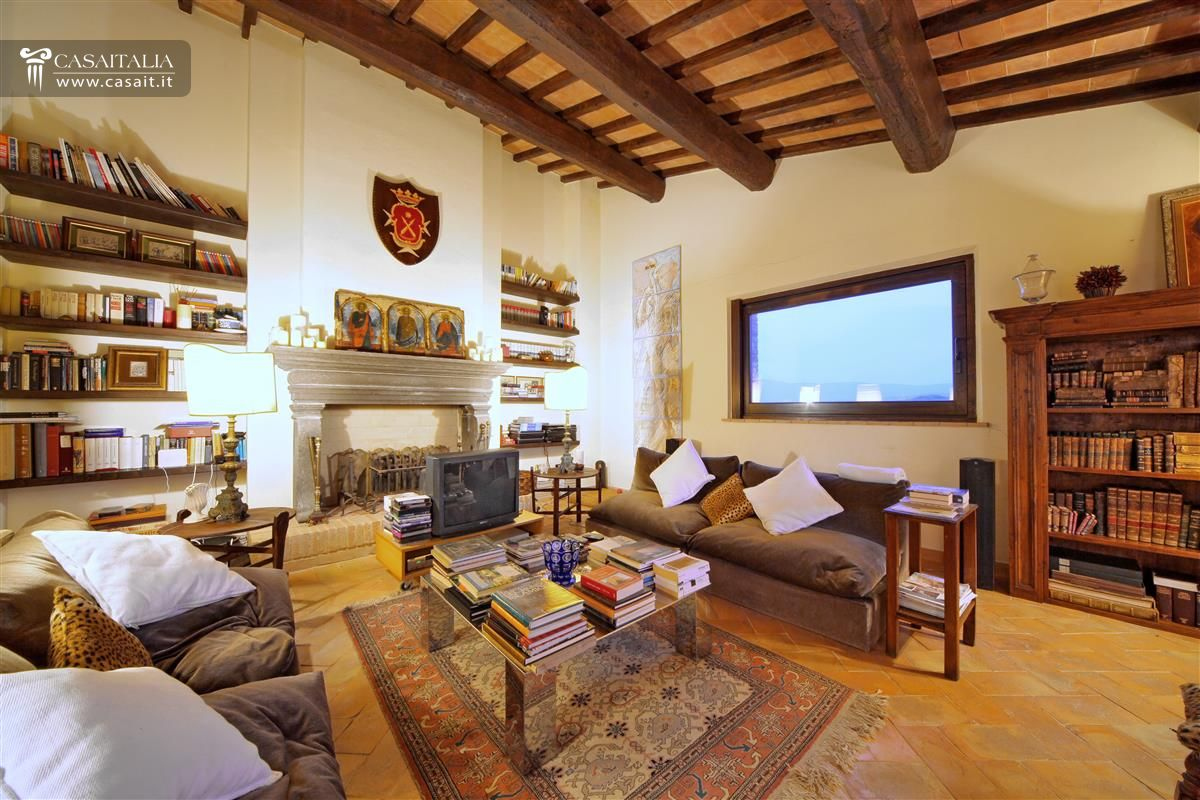 Ville e casali in vendita for Living con camino