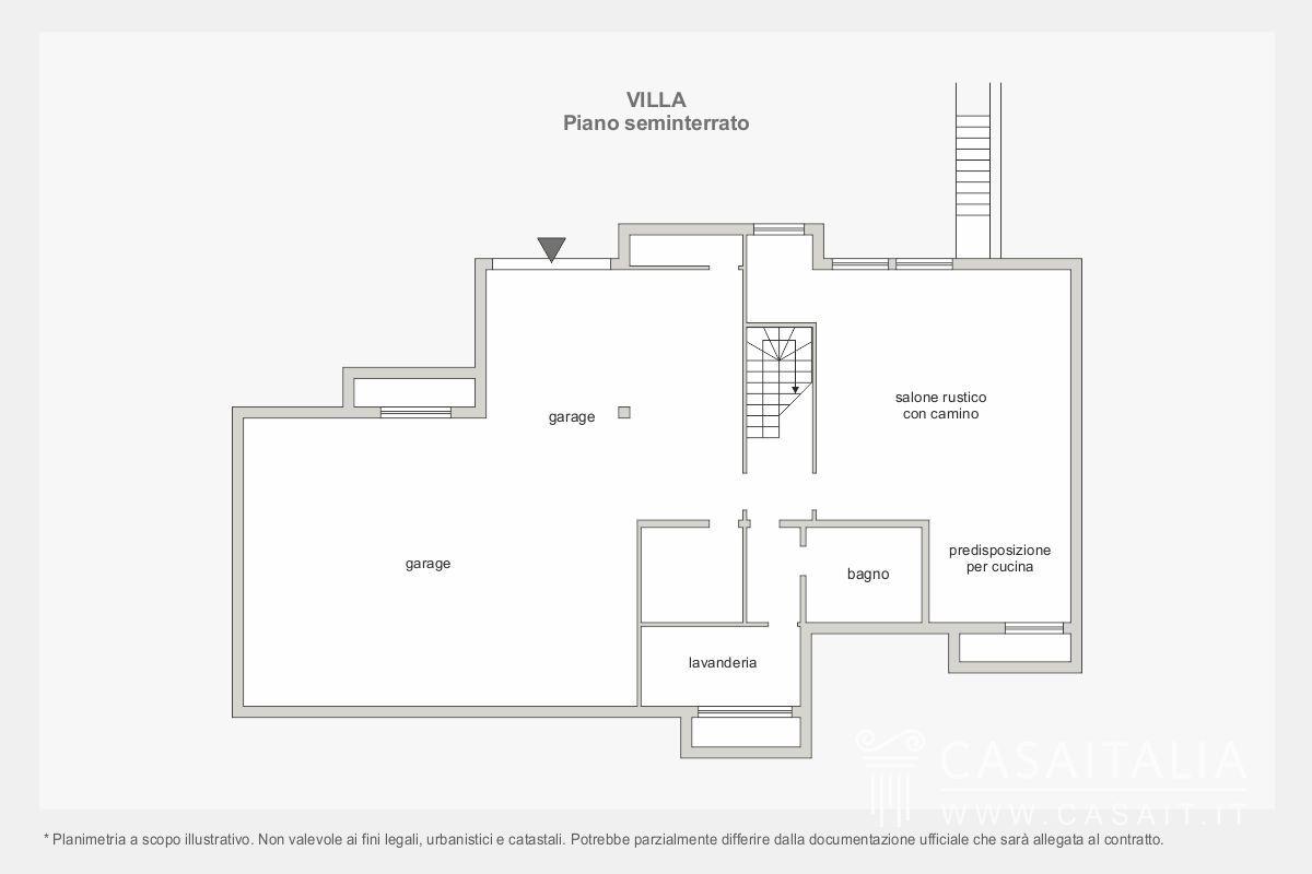 Lazio villa in vendita a cerveteri for Piano seminterrato