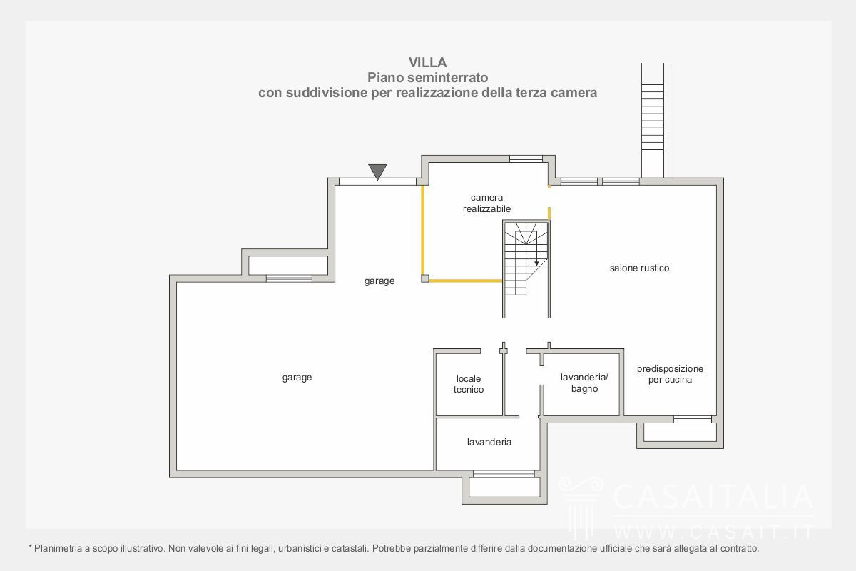 Lazio villa in vendita a cerveteri for Piani a piano singolo con seminterrato